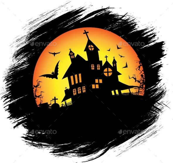 GraphicRiver Halloween Castle with Sun 9726770