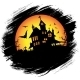 Halloween Castle with Sun - GraphicRiver Item for Sale