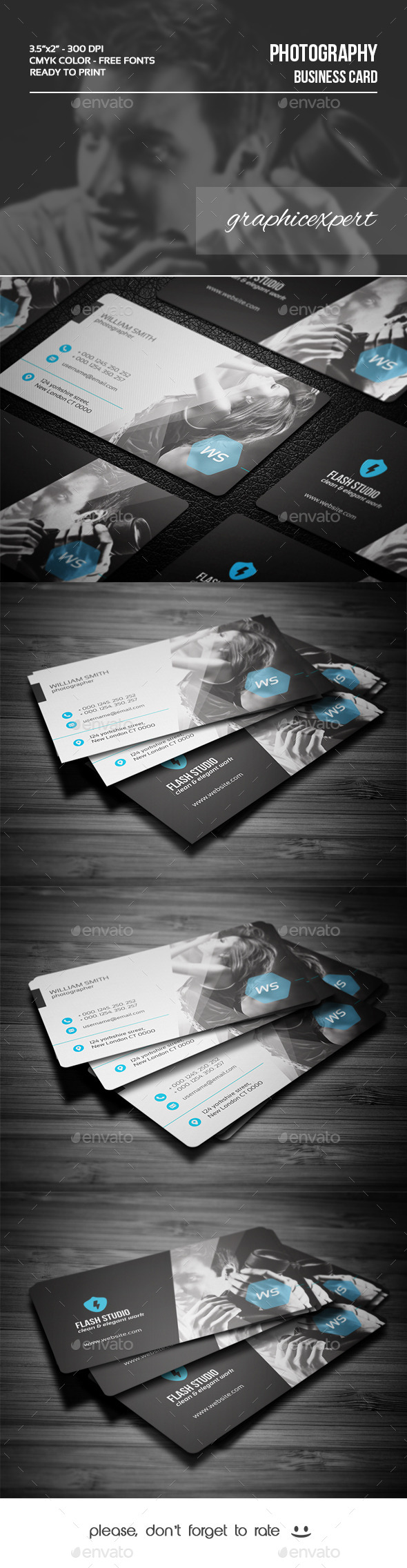 GraphicRiver Photography Business Card 9726782