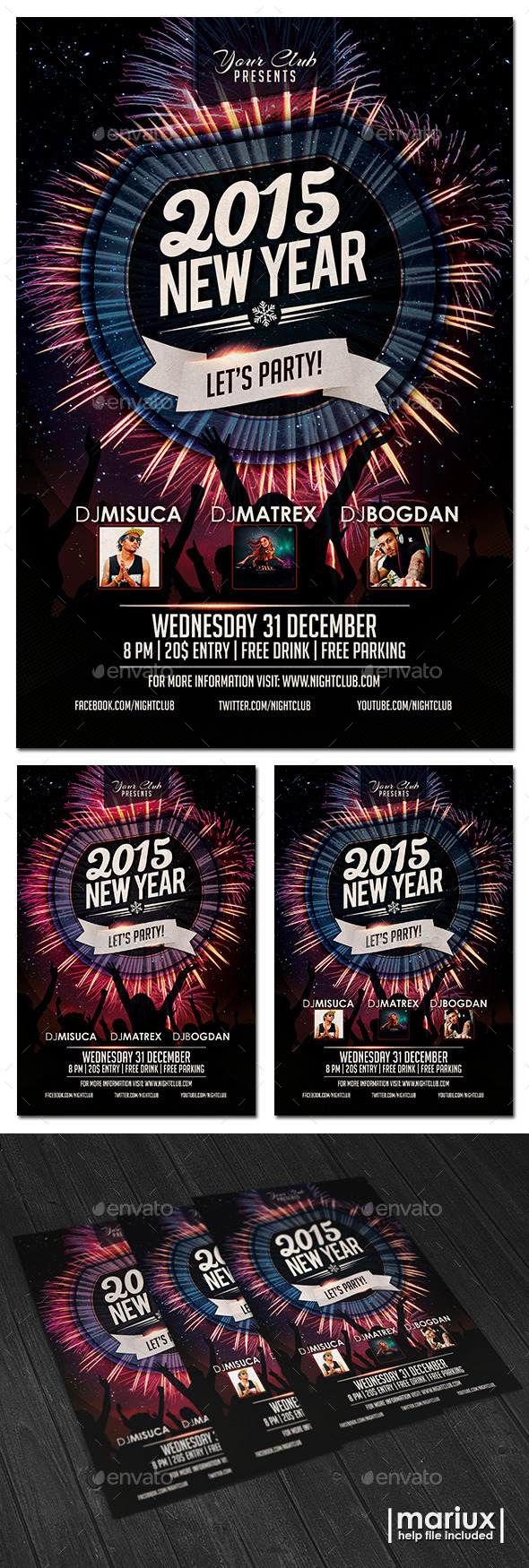GraphicRiver New Year Party Flyer 9727377