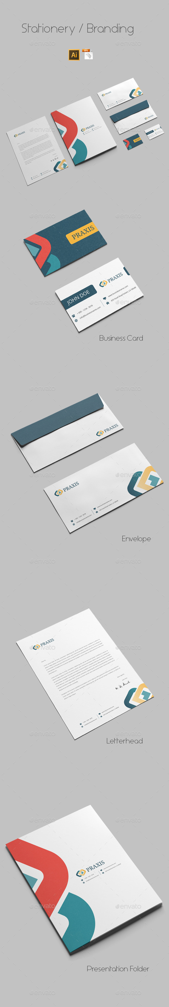 GraphicRiver Branding Stationery Templates 9727451