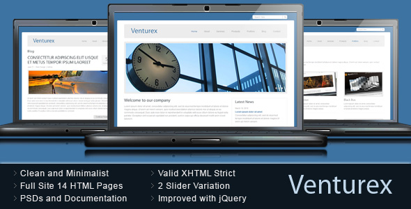 Venturex - Clean Minimalist Business HTML Template
