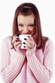 Attractive girl with cup of coffee - PhotoDune Item for Sale