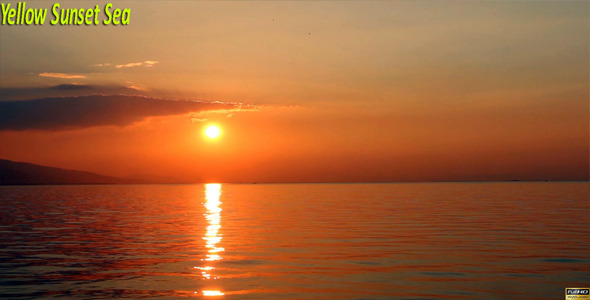 VideoHive Yellow Sunset Sea 9728051