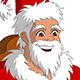 Happy Boy Sitting on Santa's Knee - GraphicRiver Item for Sale