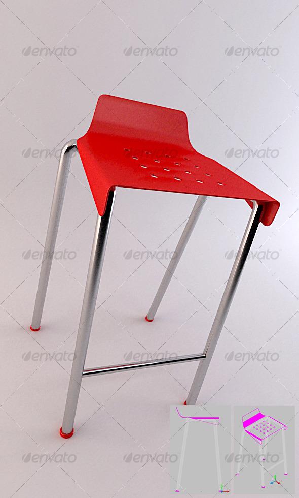 3DOcean SET 01 Bar Stool 2 123785