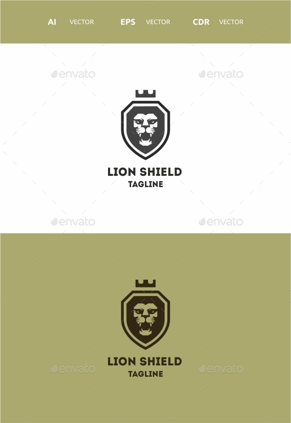 GraphicRiver Lion Shield 9728215