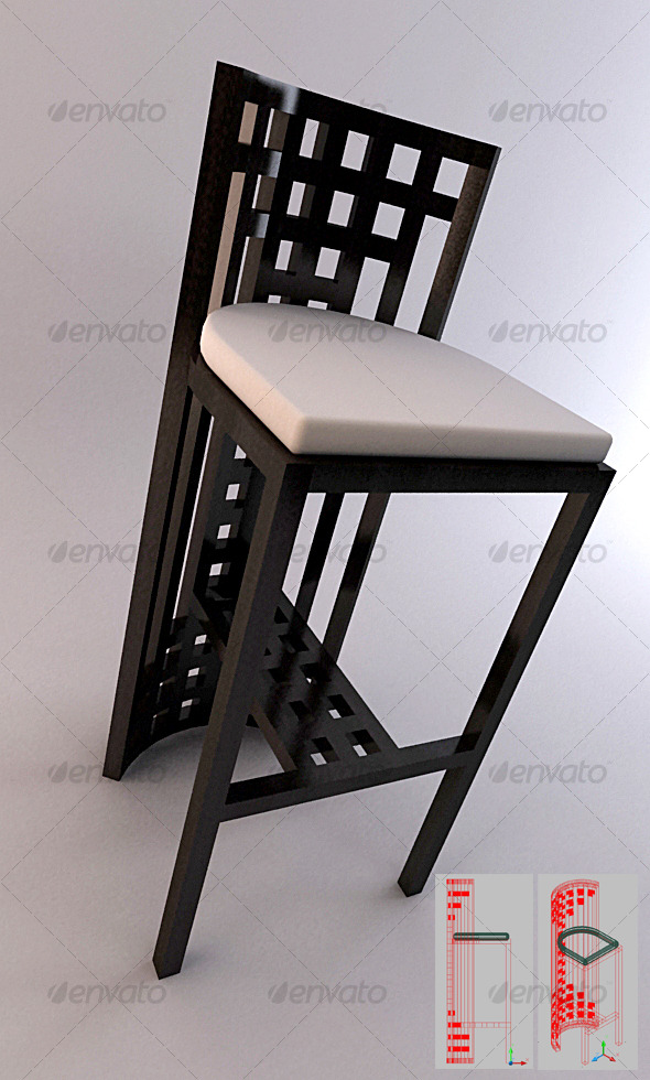 3DOcean SET 01 Bar Stool 5 123788