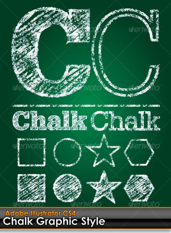 Chalk Board Illustrator Graphic Style - Styles Illustrator
