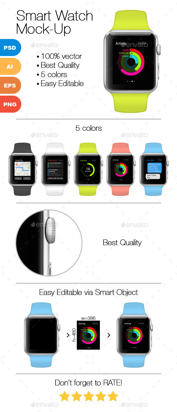 GraphicRiver Smart Watch Mock-Up 9728410