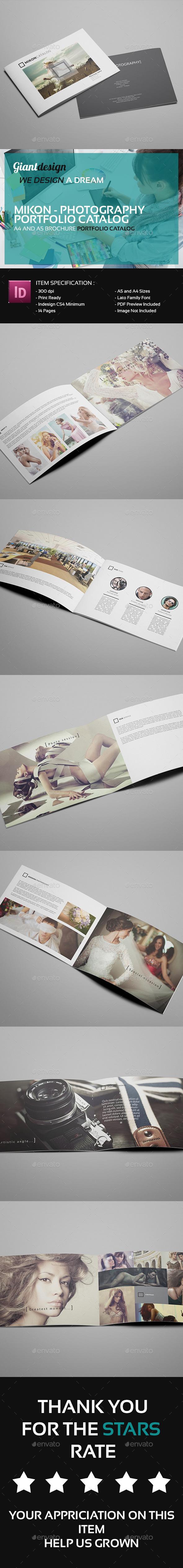 GraphicRiver Mikon Photography Portfolio Catalog 9688712