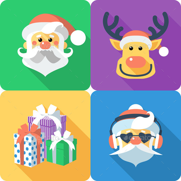GraphicRiver Christmas Icons Set 9728480