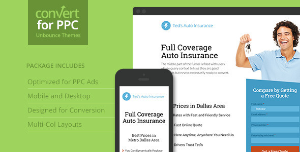 ThemeForest PPC Landing Page Theme for Unbounce 9728578