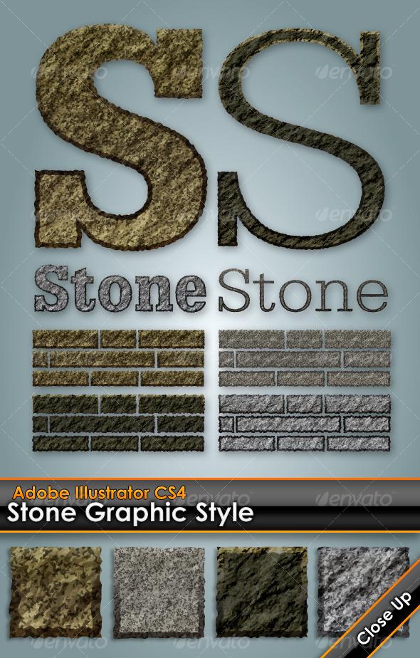 GraphicRiver Stone Granite Illustrator Graphic Style 123808