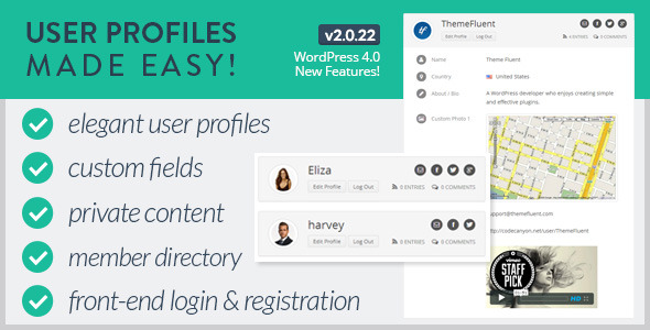 User Profiles Made Easy - WordPress Plugin - CodeCanyon Item for Sale