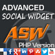 Advanced Social Widget PHP Edition