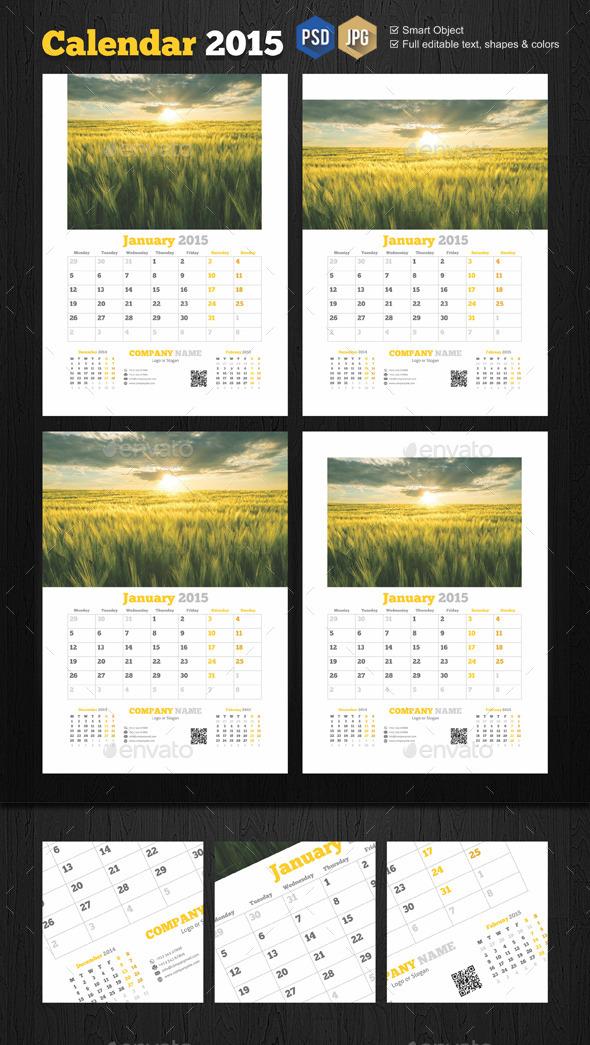 GraphicRiver Minimal Calendar Templates 9729684