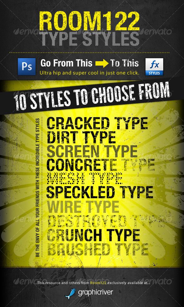 GraphicRiver Room122 Type Styles 123824