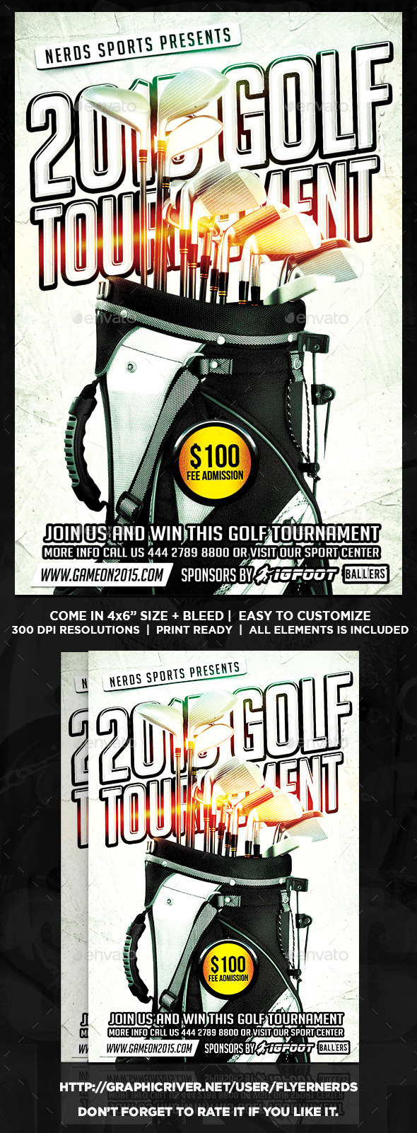 GraphicRiver Golf Competition Sports Flyer 9730987
