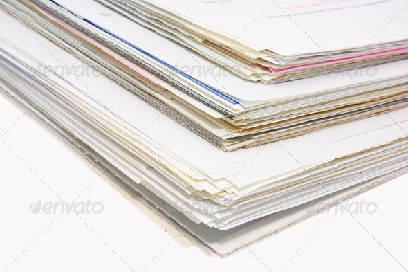Stacks of Business Documents - Stock Photo - Images