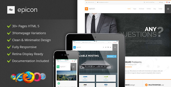 ThemeForest Epicon Clean Multipurpose HTML Template 9655528