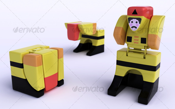 3DOcean Little robot toy 123849