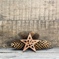 Christmas star with pine cones - PhotoDune Item for Sale