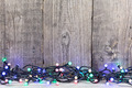 Christmas lights on wooden background - PhotoDune Item for Sale