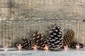 Pine cones with Christmas lights decoration - PhotoDune Item for Sale