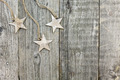 Rustic Christmas background with stars - PhotoDune Item for Sale