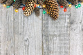 Christmas decoration with lights and pine cone - PhotoDune Item for Sale