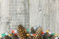 Christmas decoration with pine cone and lights - PhotoDune Item for Sale
