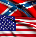 usa and confederate flag - PhotoDune Item for Sale