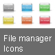 File manager icons - GraphicRiver Item for Sale