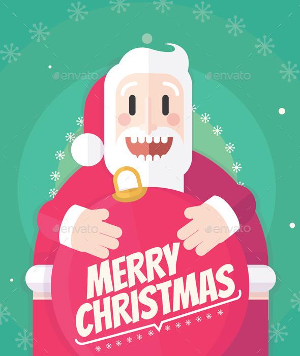 GraphicRiver Santa Christmas Card 9689023