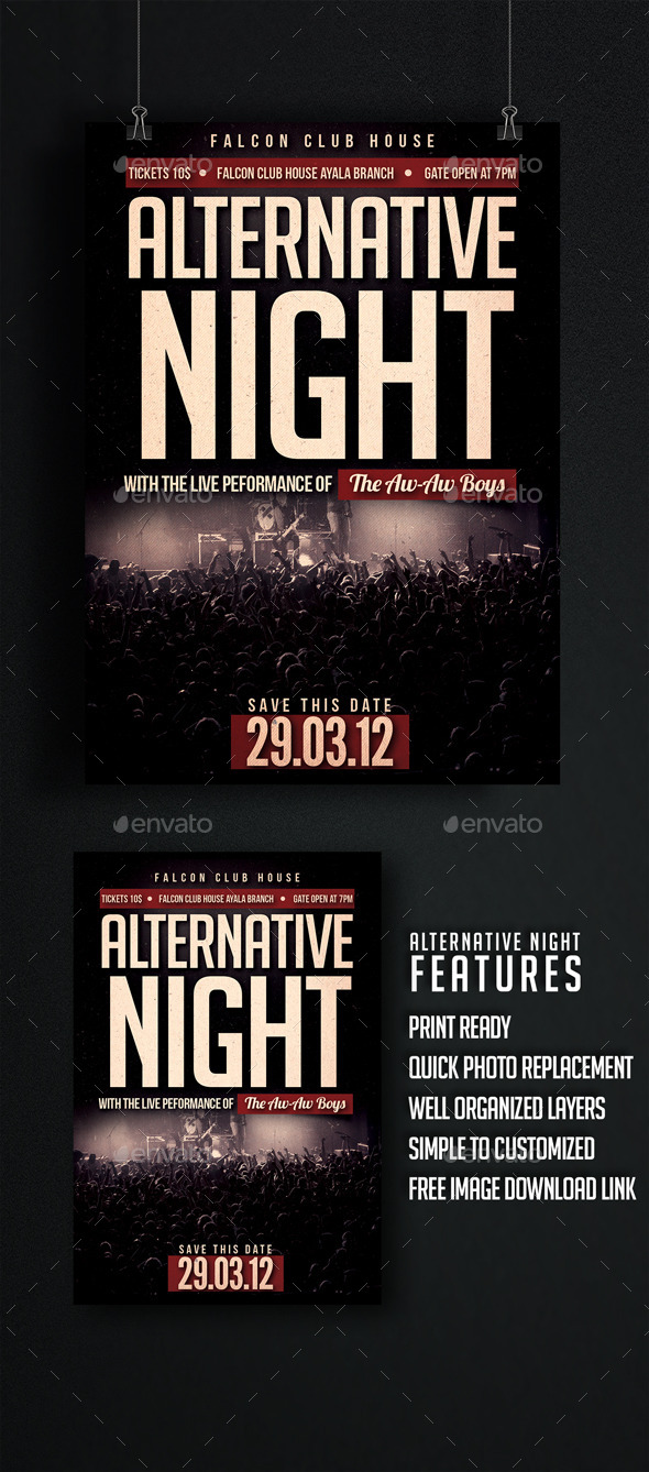 GraphicRiver Alternative Night Flyer 9731700