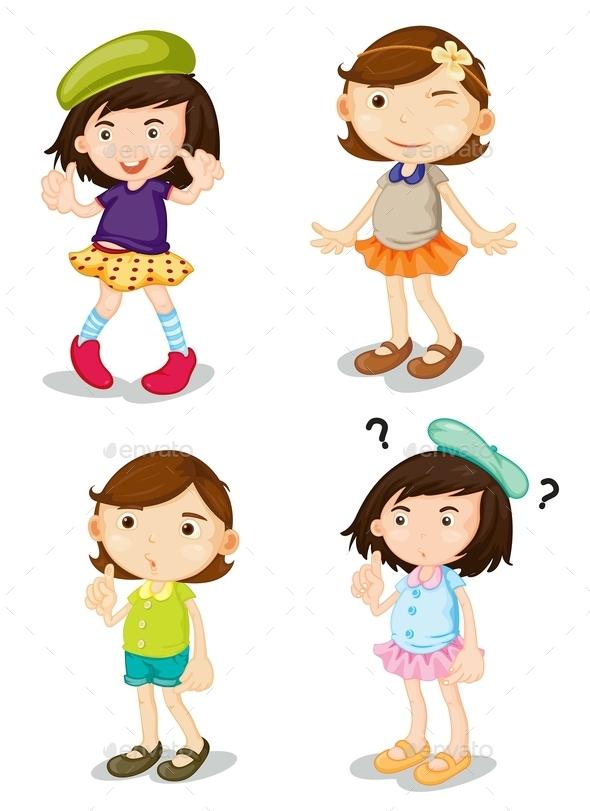 GraphicRiver Four Girls 9731705
