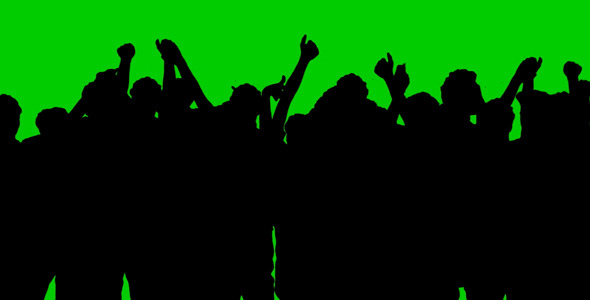 VideoHive A Group of People on a Green Background 9682924
