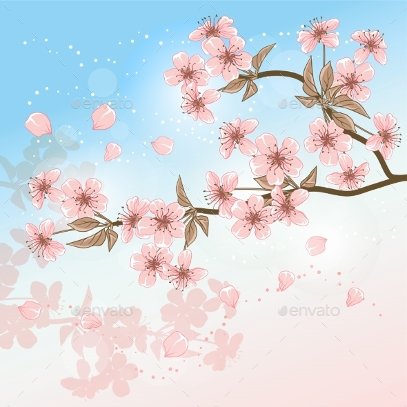 GraphicRiver Cherry Tree 9735084