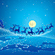 Santa Claus and Reindeer in Sky - GraphicRiver Item for Sale