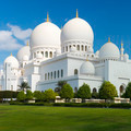 View of famous Sheikh Zayed Grand Mosque - PhotoDune Item for Sale