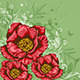 Green Background with Red Flowers  - GraphicRiver Item for Sale