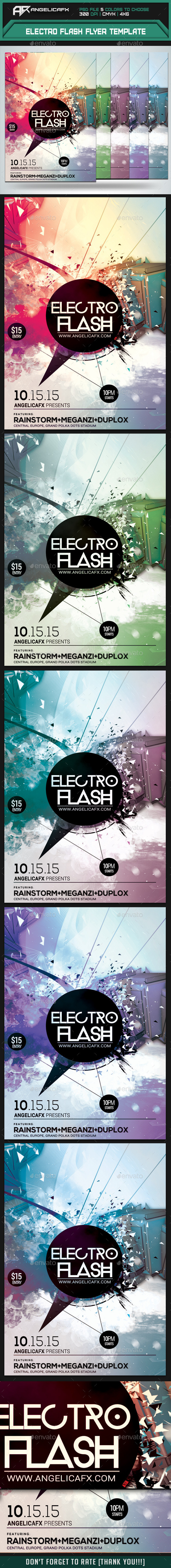 GraphicRiver Electro Flash Flyer Template 9735832
