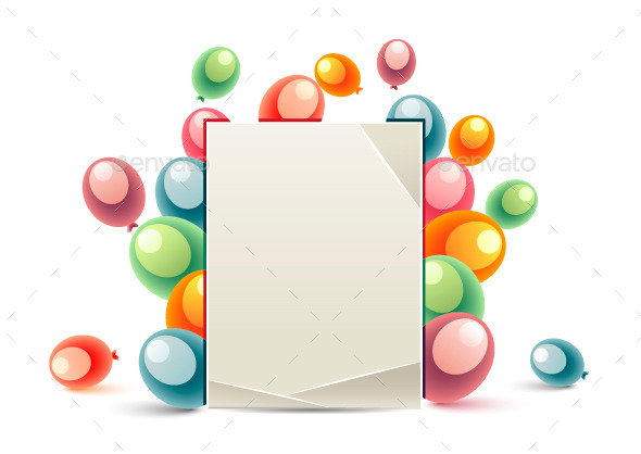 GraphicRiver Birthday Message Balloons 9735875