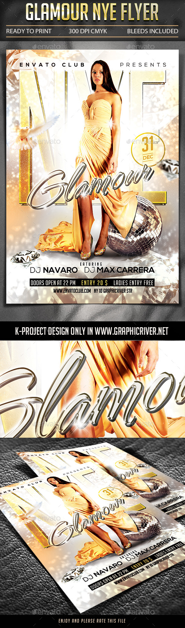 GraphicRiver Glamour NYE Flyer 9735940