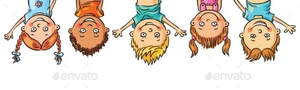 Kids Hanging Upside Down