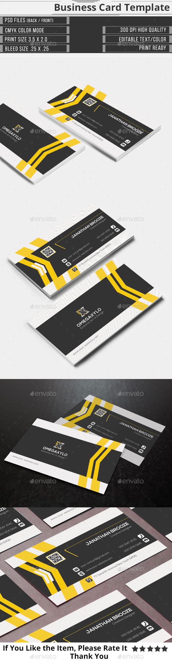 GraphicRiver Clean Creative corporate Business Card 9735984
