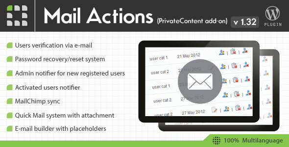 PrivateContent Mail Actions add-on