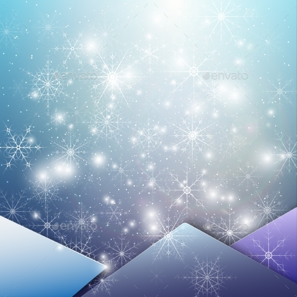 GraphicRiver Winter background with Snowflakes 9736031