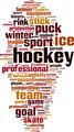 Hockey Word Cloud Concept - PhotoDune Item for Sale